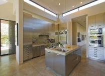 Stylish contemporary kitchen in luxury manor house